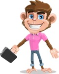 Ape Cartoon Vector Character AKA Dunc the Funky Monkey - Briefcase 1