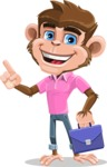 Ape Cartoon Vector Character AKA Dunc the Funky Monkey - Briefcase 2