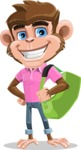 Ape Cartoon Vector Character AKA Dunc the Funky Monkey - Travel 2