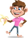 Ape Cartoon Vector Character AKA Dunc the Funky Monkey - Banana