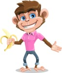 Ape Cartoon Vector Character AKA Dunc the Funky Monkey - Show