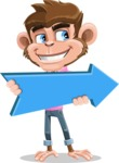Ape Cartoon Vector Character AKA Dunc the Funky Monkey - Pointer 2