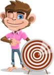 Ape Cartoon Vector Character AKA Dunc the Funky Monkey - Target