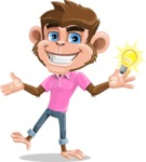 Ape Cartoon Vector Character AKA Dunc the Funky Monkey - Idea 1