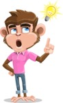 Ape Cartoon Vector Character AKA Dunc the Funky Monkey - Idea 2