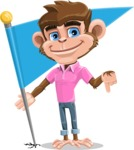Ape Cartoon Vector Character AKA Dunc the Funky Monkey - Checkpoint