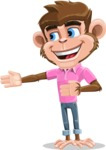 Ape Cartoon Vector Character AKA Dunc the Funky Monkey - Show 2