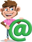 Ape Cartoon Vector Character AKA Dunc the Funky Monkey - Email