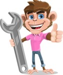 Ape Cartoon Vector Character AKA Dunc the Funky Monkey - Repair