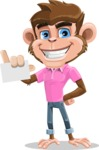 Ape Cartoon Vector Character AKA Dunc the Funky Monkey - Sign 1