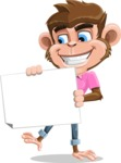 Ape Cartoon Vector Character AKA Dunc the Funky Monkey - Sign 4