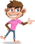Ape Cartoon Vector Character AKA Dunc the Funky Monkey - Point