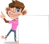 Ape Cartoon Vector Character AKA Dunc the Funky Monkey - Sign 7