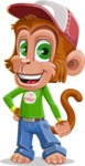 Cute Chimpanzee Monkey Vector Cartoon Character AKA Bo Nobo - Normal