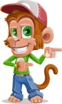 Cute Chimpanzee Monkey Vector Cartoon Character AKA Bo Nobo - Point 2
