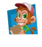 Cute Chimpanzee Monkey Vector Cartoon Character AKA Bo Nobo - Shape 3