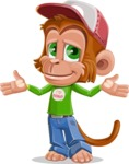 Cute Chimpanzee Monkey Vector Cartoon Character AKA Bo Nobo - Sorry