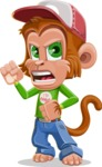 Cute Chimpanzee Monkey Vector Cartoon Character AKA Bo Nobo - Angry
