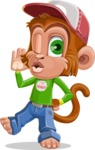 Cute Chimpanzee Monkey Vector Cartoon Character AKA Bo Nobo - Duckface