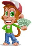 Cute Chimpanzee Monkey Vector Cartoon Character AKA Bo Nobo - Show me  the Money