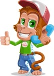 Bo Nobo the Cute Monkey - Support