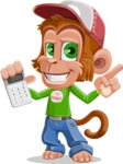 Cute Chimpanzee Monkey Vector Cartoon Character AKA Bo Nobo - Calculator
