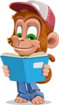 Cute Chimpanzee Monkey Vector Cartoon Character AKA Bo Nobo - Book 1