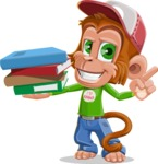 Cute Chimpanzee Monkey Vector Cartoon Character AKA Bo Nobo - Book 2