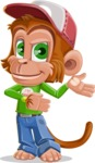 Cute Chimpanzee Monkey Vector Cartoon Character AKA Bo Nobo - Showcase
