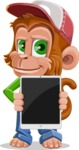 Cute Chimpanzee Monkey Vector Cartoon Character AKA Bo Nobo - iPad 1