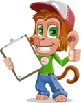 Cute Chimpanzee Monkey Vector Cartoon Character AKA Bo Nobo - Notepad 1