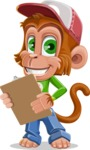 Cute Chimpanzee Monkey Vector Cartoon Character AKA Bo Nobo - Notepad 2