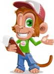 Cute Chimpanzee Monkey Vector Cartoon Character AKA Bo Nobo - Notepad 3