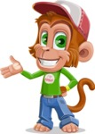 Cute Chimpanzee Monkey Vector Cartoon Character AKA Bo Nobo - Showcase 2