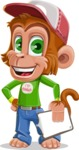Cute Chimpanzee Monkey Vector Cartoon Character AKA Bo Nobo - Notepad 4