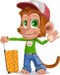 Cute Chimpanzee Monkey Vector Cartoon Character AKA Bo Nobo - Travel 1