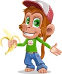 Cute Chimpanzee Monkey Vector Cartoon Character AKA Bo Nobo - Show