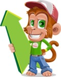 Cute Chimpanzee Monkey Vector Cartoon Character AKA Bo Nobo - Pointer 1
