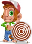 Cute Chimpanzee Monkey Vector Cartoon Character AKA Bo Nobo - Target