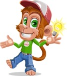 Cute Chimpanzee Monkey Vector Cartoon Character AKA Bo Nobo - Idea 1