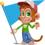 Cute Chimpanzee Monkey Vector Cartoon Character AKA Bo Nobo - Checkpoint