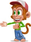 Cute Chimpanzee Monkey Vector Cartoon Character AKA Bo Nobo - Show 2