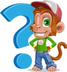 Cute Chimpanzee Monkey Vector Cartoon Character AKA Bo Nobo - Question