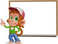 Cute Chimpanzee Monkey Vector Cartoon Character AKA Bo Nobo - Presentation 3