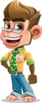 Business Monkey Cartoon Vector Character AKA Mr. Monkey Bananas - Normal