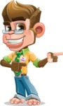 Business Monkey Cartoon Vector Character AKA Mr. Monkey Bananas - Point 2