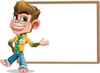 Business Monkey Cartoon Vector Character AKA Mr. Monkey Bananas - Presentation 5
