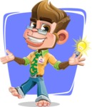 Business Monkey Cartoon Vector Character AKA Mr. Monkey Bananas - Shape 8