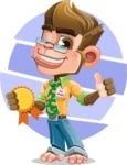 Business Monkey Cartoon Vector Character AKA Mr. Monkey Bananas - Shape 9