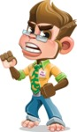 Business Monkey Cartoon Vector Character AKA Mr. Monkey Bananas - Angry